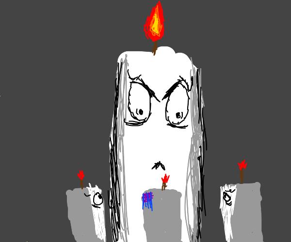 Candle purging their weaker brethren