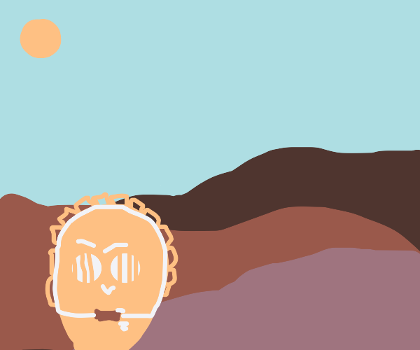C3PO in the desert