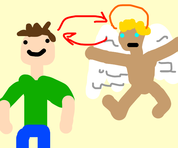 Body swap with angel kid