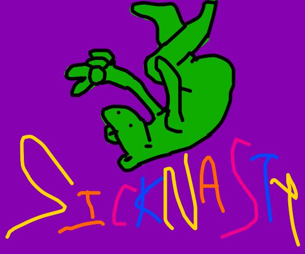 Smooth frog doing a sicknasty backflip