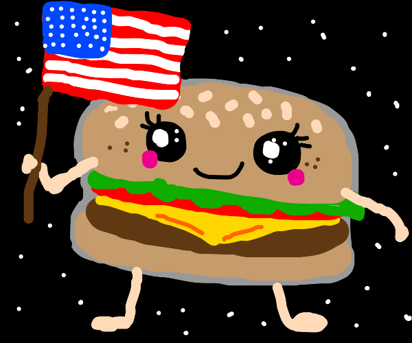 patriotic hamburger
