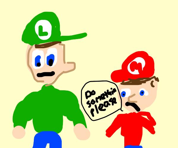 Luigi does nothing