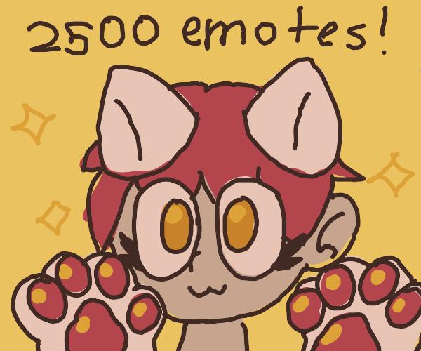 2500 emotes