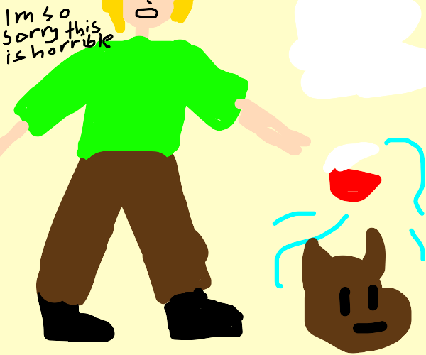 Shaggy sees snow and summons scooby