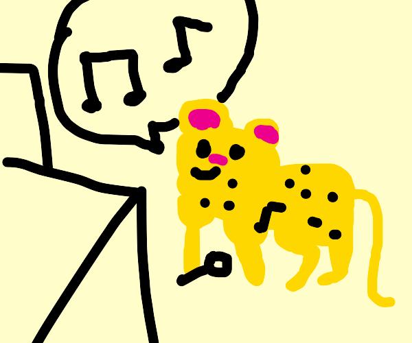 Leopard at karaoke