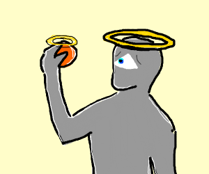God eating a Holy Orange
