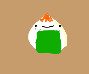 Onigiri with a face
