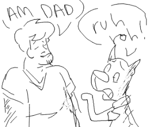 Fat daddy Shaggy tells Scooby he's a dad