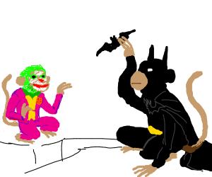 Batman & Joker... if they were MONKEYS!