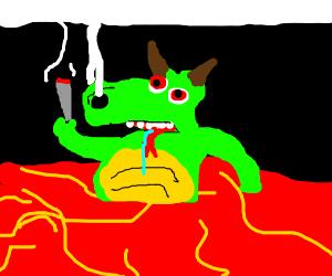 lava and stone dragon