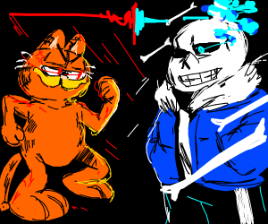 Garfield Vs Sans Drawception