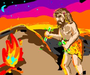 Caveman sunset