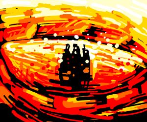 epic drawn dragon eye