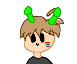 Half homo alien half normal human boy