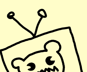 Bear on a Television Show