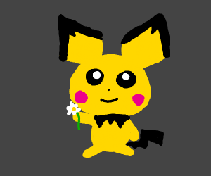 pichu with a flower