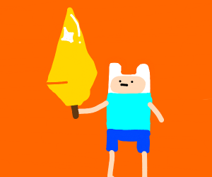 Adventure Time guy with golden sword