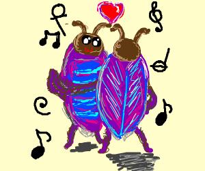 purple beetle dance