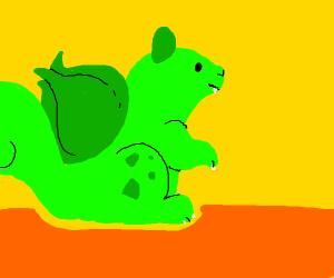 A squirrel bulbasaur mix