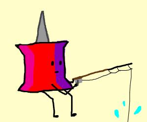 a thumbtack fishing