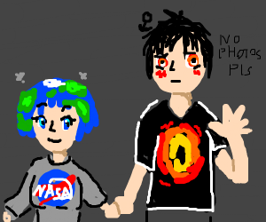 Earth chan and her far cousin blackhole kun