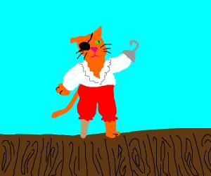 orange cat is a pirate
