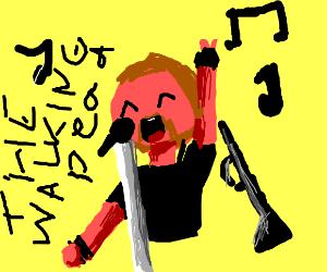 Abraham (walking dead) does Karaoke