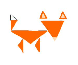 Fox made entirely out of triangles