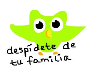 Duolingo Owl took your family