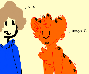 Jon don't gives lasagna to Garfield