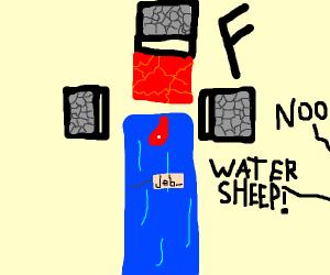 Pewds cries over watersheep