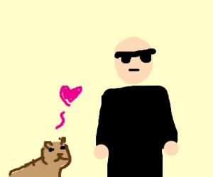 Chipmunk loves Bouncer