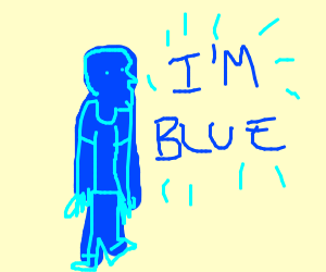 Blue guy says they are blue