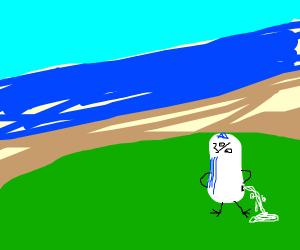 Milk goes bad at the beach