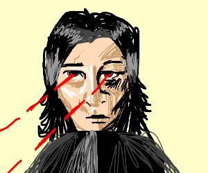 Kylo Ren with laser eyes