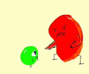 The patty get's it's revenge on lil'green boi