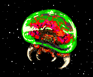 metroid in space (from Metroid look it up)