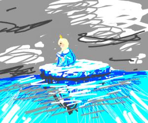 Frozen 2: Elsa get lost at sea on an iceberg