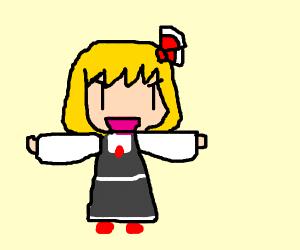 T posing anime girl