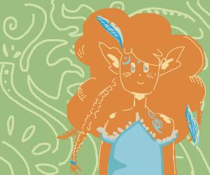 Furry tribal girl