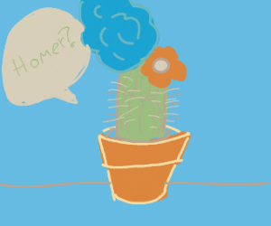 Marge Simpson is a cactus