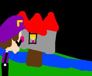 Waluigi storms the castle