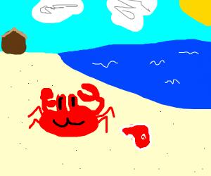 Crab loves steak block