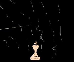 King in the rain
