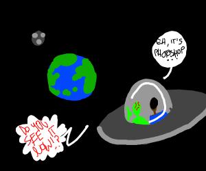 Alien proves the Earth isn't flat