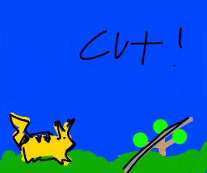 Pikachu learned cut!