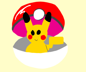 Pokemon in Pokeball (idk which one tho :v )