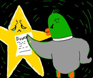 Star and duck get a divorce