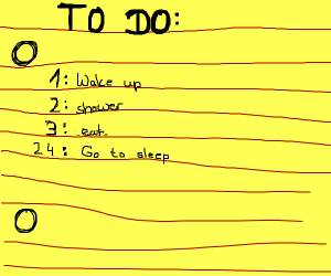 A to-do-list that skips 3 to 24