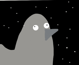 Crazy duck in space